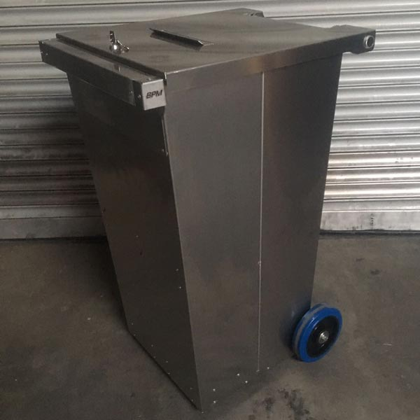 Aluminium afvalcontainers