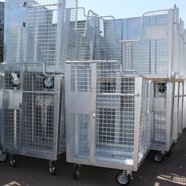 Stalen afvalcontainers